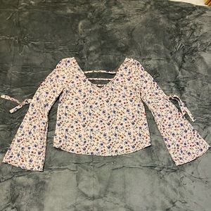 Hollister Floral Peasant Bohemian Top